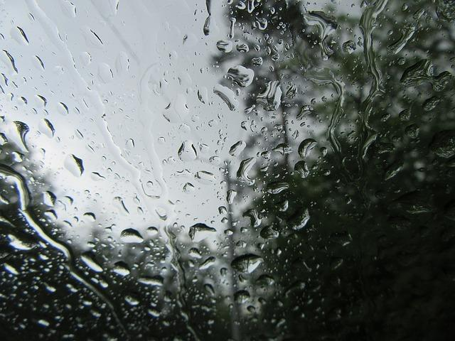 rain, water, glass