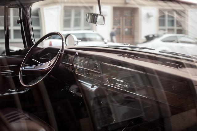 oldtimer, car, interior