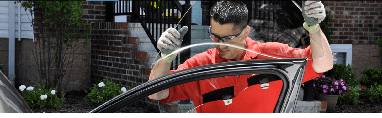 windshield being repaired