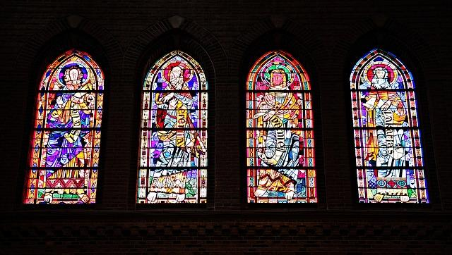 church window, window, church