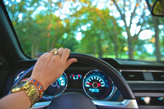 driving, steering wheel, car