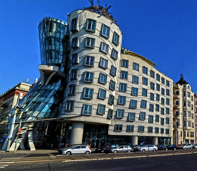 building, the dancing house, prague