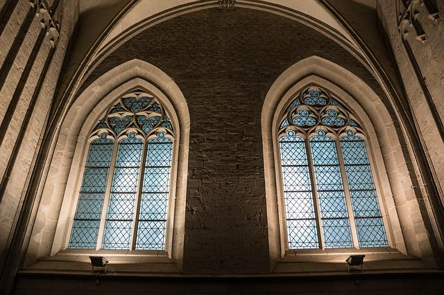 church window, church, stained glass window