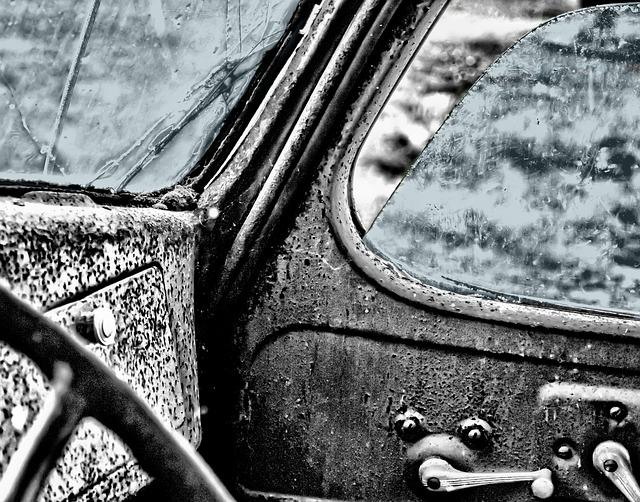 oldtimer, car, window